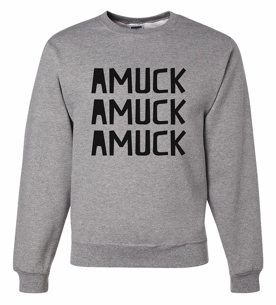 7 ate 9 Apparel Men's Amuck Halloween Sweatshirt