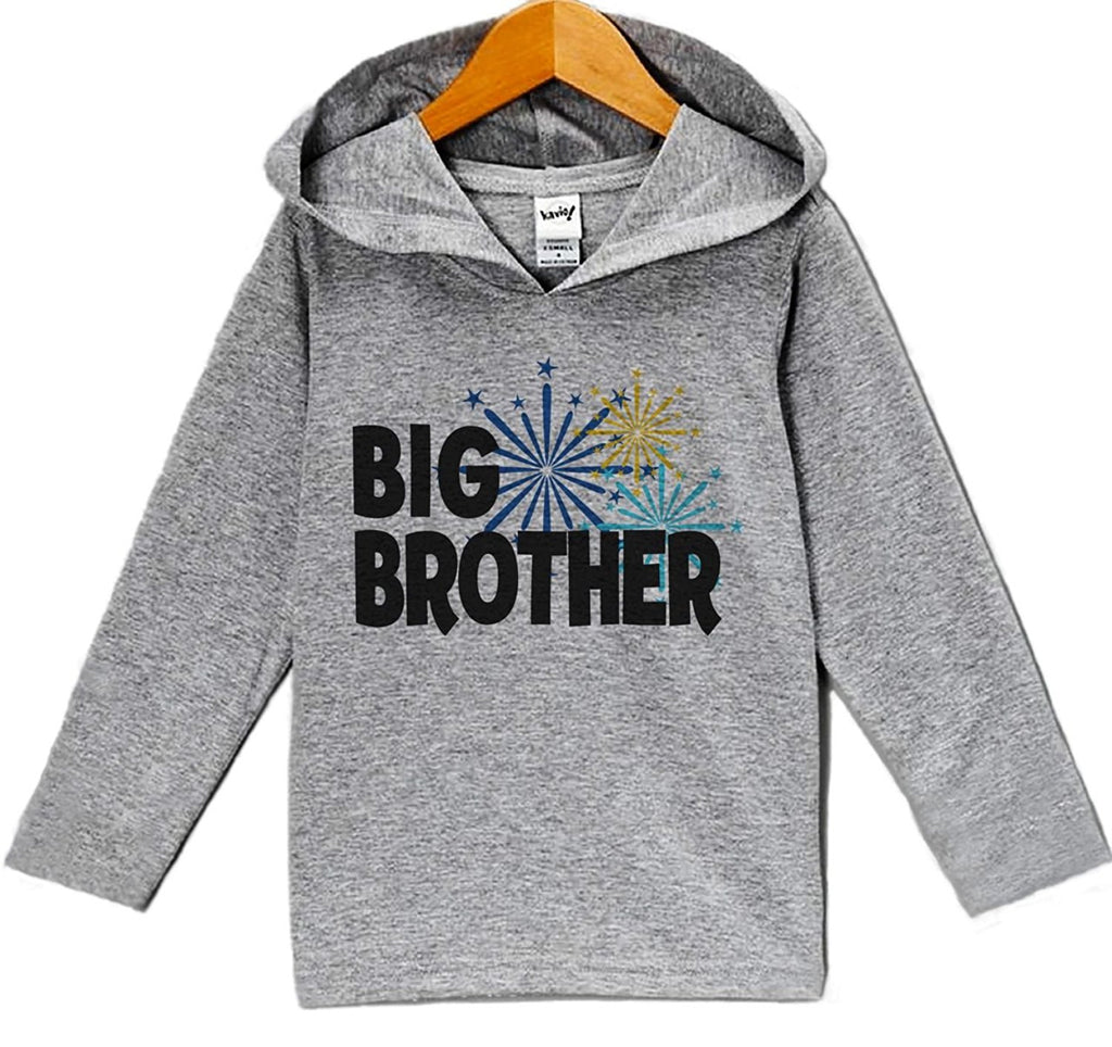 7 Ate 9 Apparel Baby Boy's Big Brother New Years Eve Hoodie Pullover