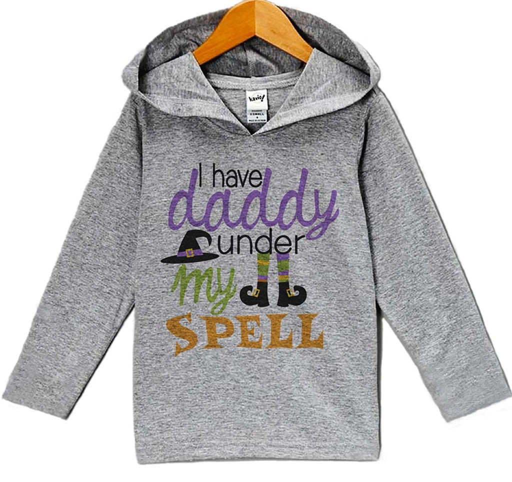 7 ate 9 Apparel Baby Daddy Is Under My Spell Halloween Hoodie