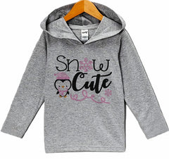 7 ate 9 Apparel Kid's Snow Cute Winter Hoodie