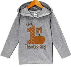 7 ate 9 Apparel Baby's My 1st Thanksgiving Hoodie