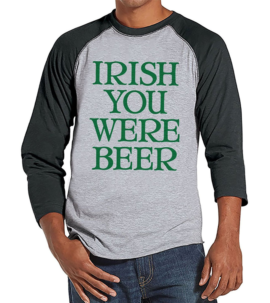7 ate 9 Apparel Men's Beer St. Patrick's Day Raglan Shirt