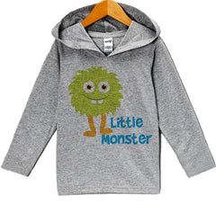 7 ate 9 Apparel Baby Boy's Novelty Little Monster Hoodie Pullover