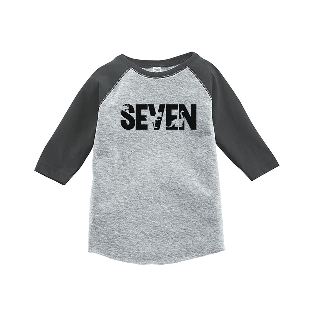 7 ate 9 Apparel Seven Birthday Dinosaur