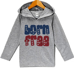 7 Ate 9 Apparel Baby Boy's Born Free 4th of July Hoodie Pullover