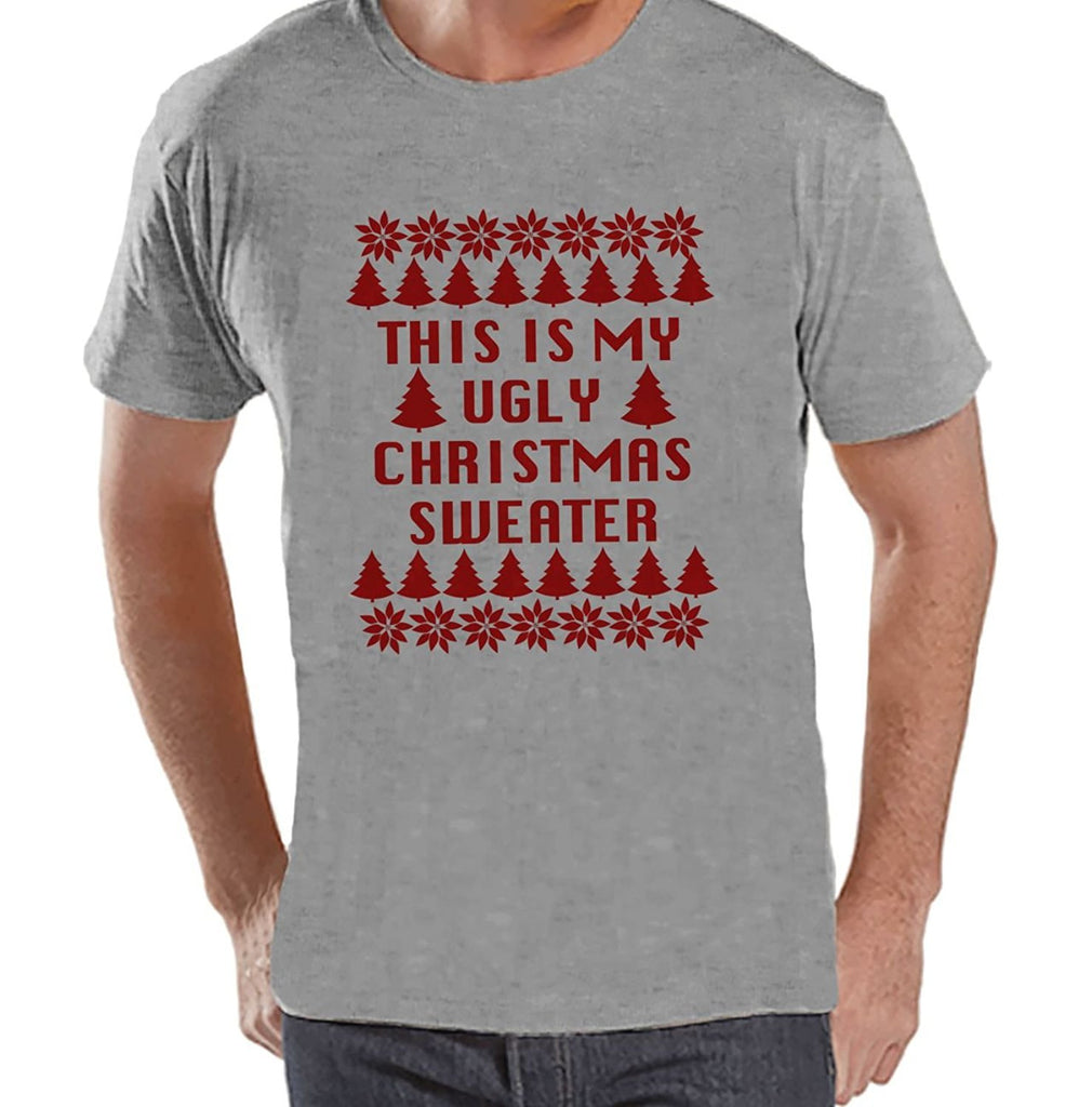 7 ate 9 Apparel Mens My Ugly Christmas Sweater T-shirt