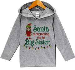 7 ate 9 Apparel Baby's Big Sister Christmas Hoodie