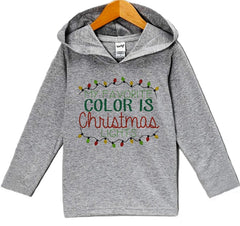 7 ate 9 Apparel Baby's Christmas Lights Hoodie