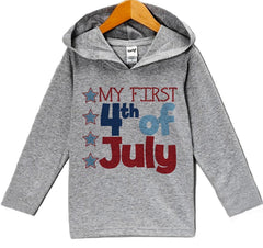 7 Ate 9 Apparel Baby Boy's First 4th of July Hoodie Pullover