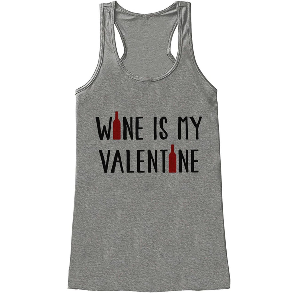 7 ate 9 Apparel Womens Wine Anti Valentine's Day Tank Top