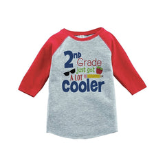 7 ate 9 Apparel Kids 2nd Grade Got Cooler School Red Baseball Tee