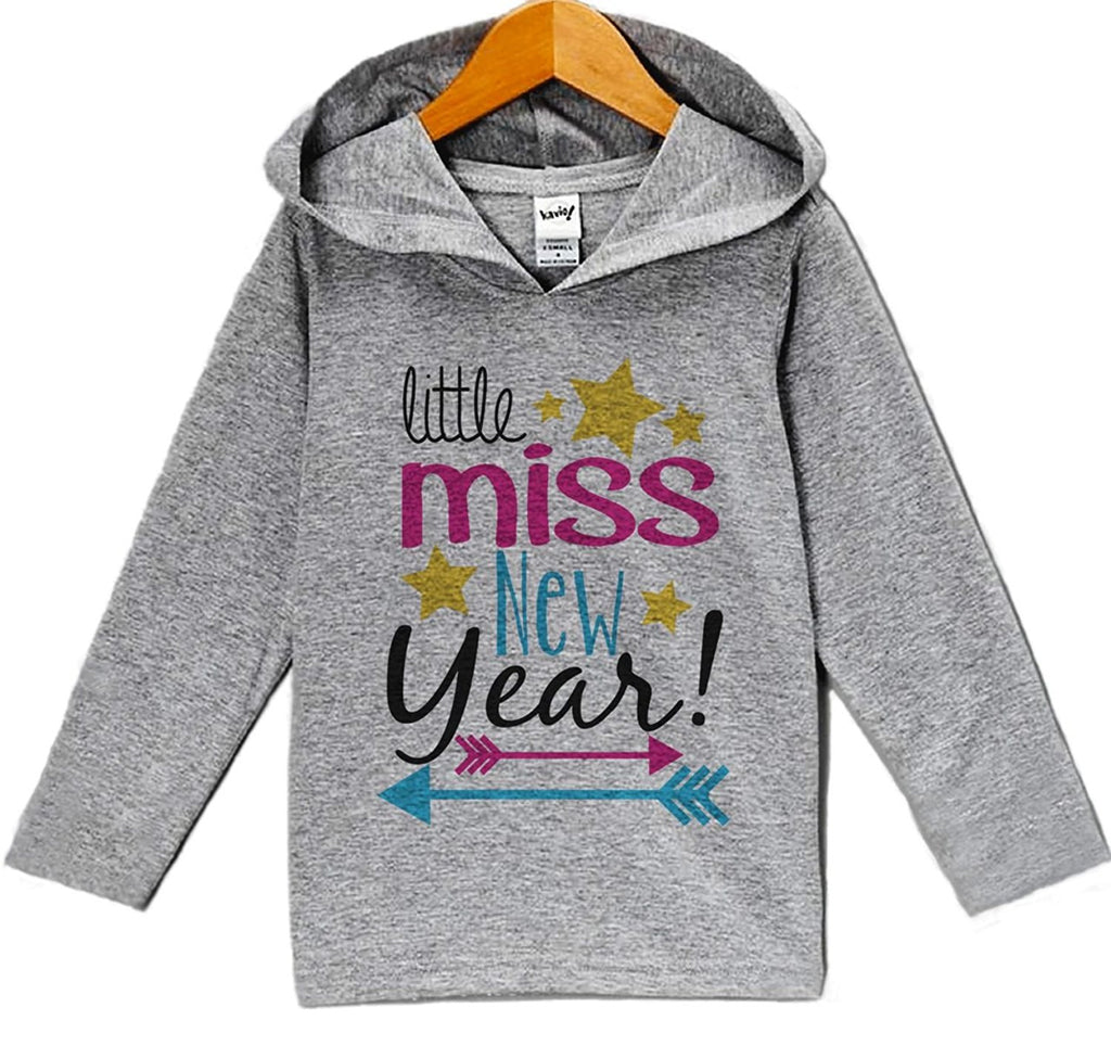 7 ate 9 Apparel Baby Girl's Little Miss New Years Eve Hoodie Pullover