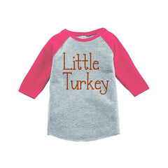 7 ate 9 Apparel Baby's Happy Thanksgiving Pink Raglan