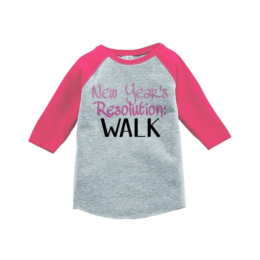 7 ate 9 Apparel Kids New Years Resolution Raglan Shirt