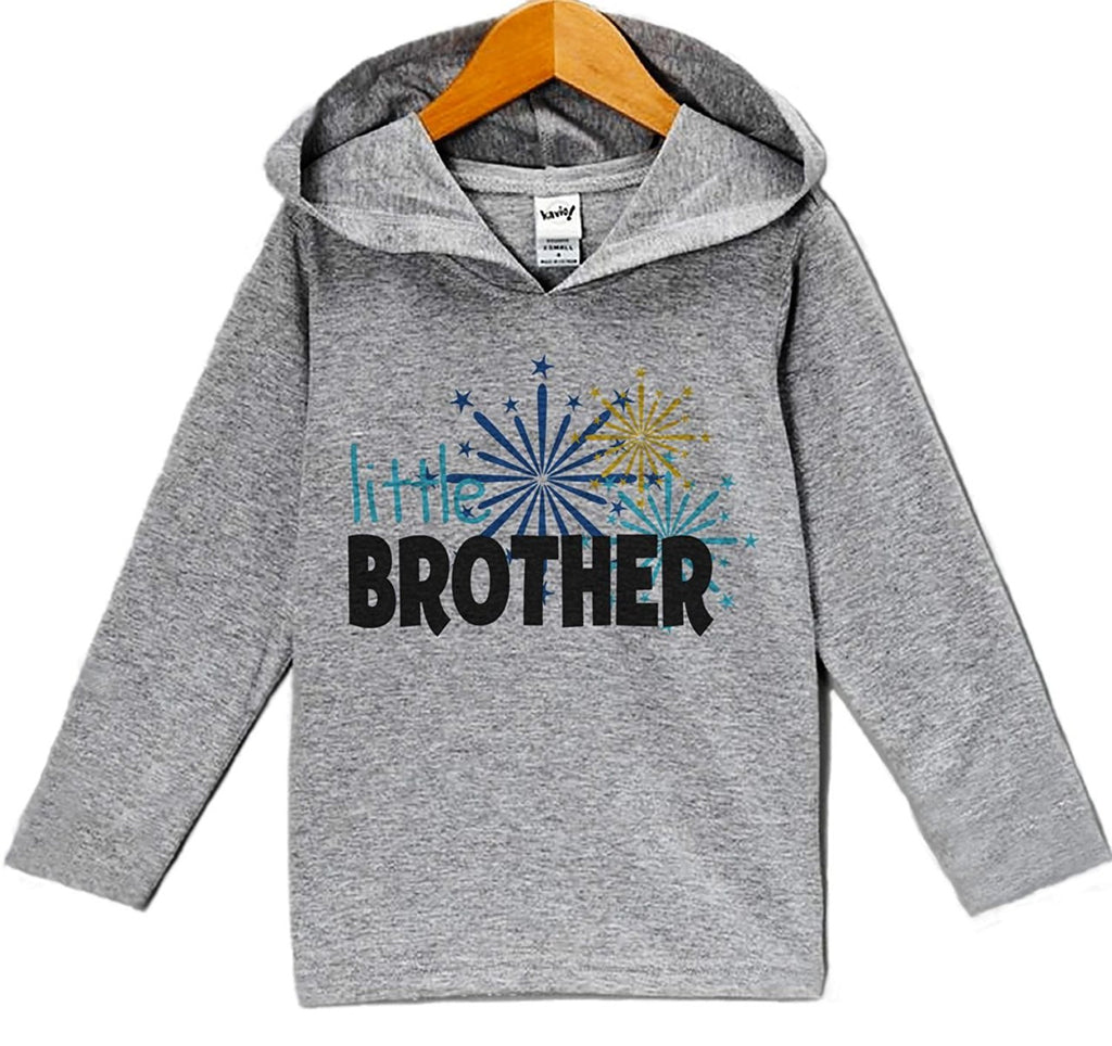 7 ate 9 Apparel Baby Boy's Little Brother New Years Eve Hoodie Pullover