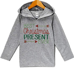 7 ate 9 Apparel Baby's Best Present Ever Christmas Hoodie