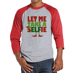 7 ate 9 Apparel Mens Selfie Christmas Raglan