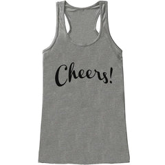 7 ate 9 Apparel Women's Cheers! New Years Tank Top