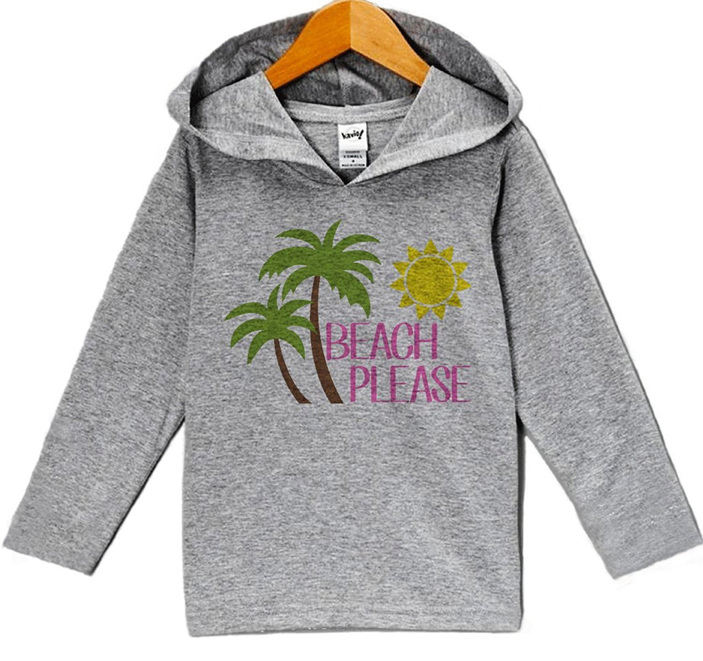 7 ate 9 Apparel Baby Girl's Beach Please Summer Hoodie Pullover
