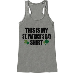 7 ate 9 Apparel Womens St. Patrick's Day Tank Top