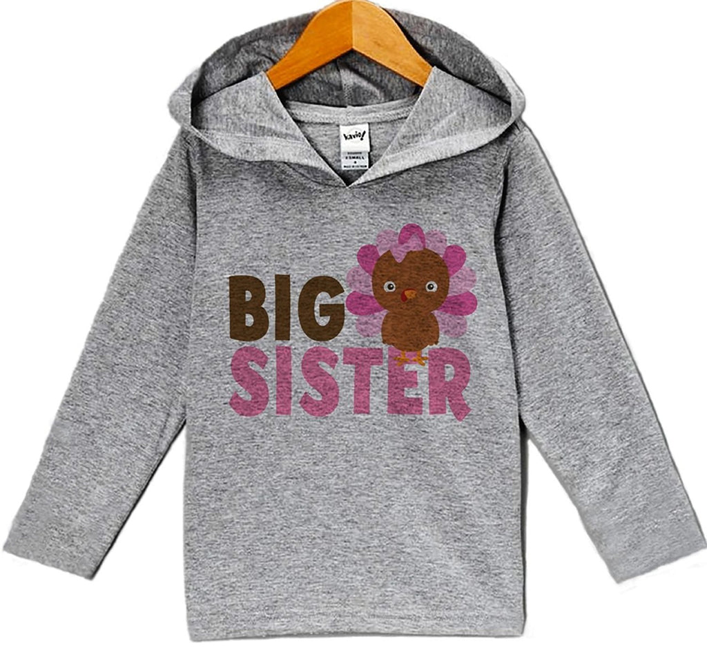 7 ate 9 Apparel Baby Girl's Big Sister Thanksgiving Hoodie