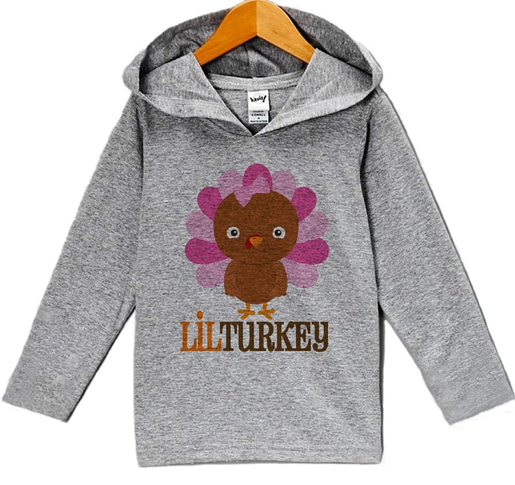 7 ate 9 Apparel Baby Girl's Lil Turkey Thanksgiving Hoodie