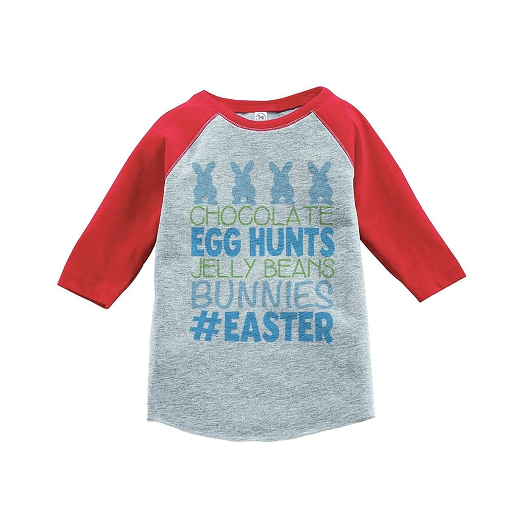 #Easter - Boy's Red Raglan