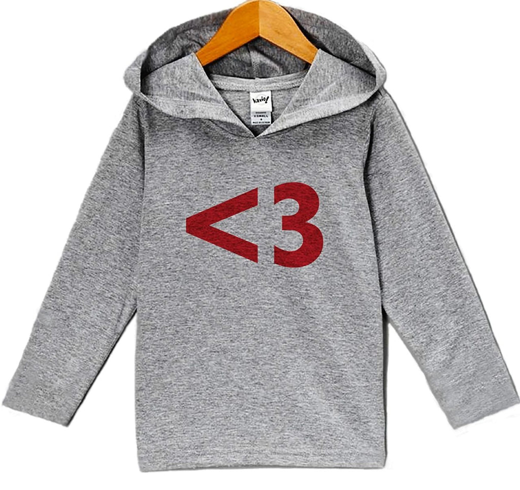 7 ate 9 Apparel Baby's <3 Heart Valentine's Day Hoodie