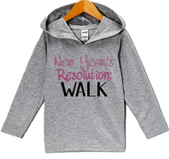 7 ate 9 Apparel Baby Girl's New Years Resolution New Years Eve Hoodie Pullover