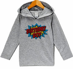 7 ate 9 Apparel Kid's Super Hero Birthday Hoodie
