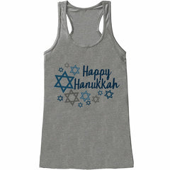 7 at 9 Apparel Women's Happy Hanukkah Tank Top