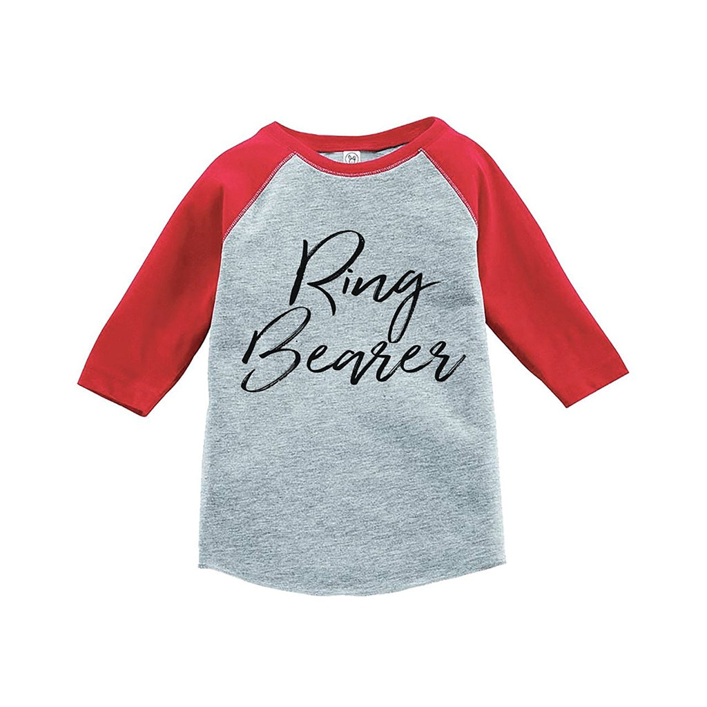 7 ate 9 Apparel Toddler Boy's Ring Bearer Wedding Red Raglan