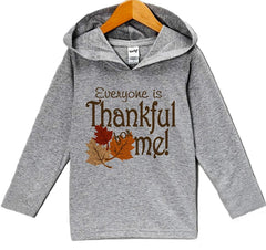 7 ate 9 Apparel Baby's Thankful For Me Thanksgiving Hoodie