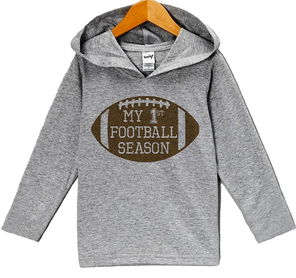 7 ate 9 Apparel Baby Boy's Novelty Football Hoodie Pullover