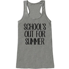 7 ate 9 Apparel Womens School's Out For Summer Tank Top
