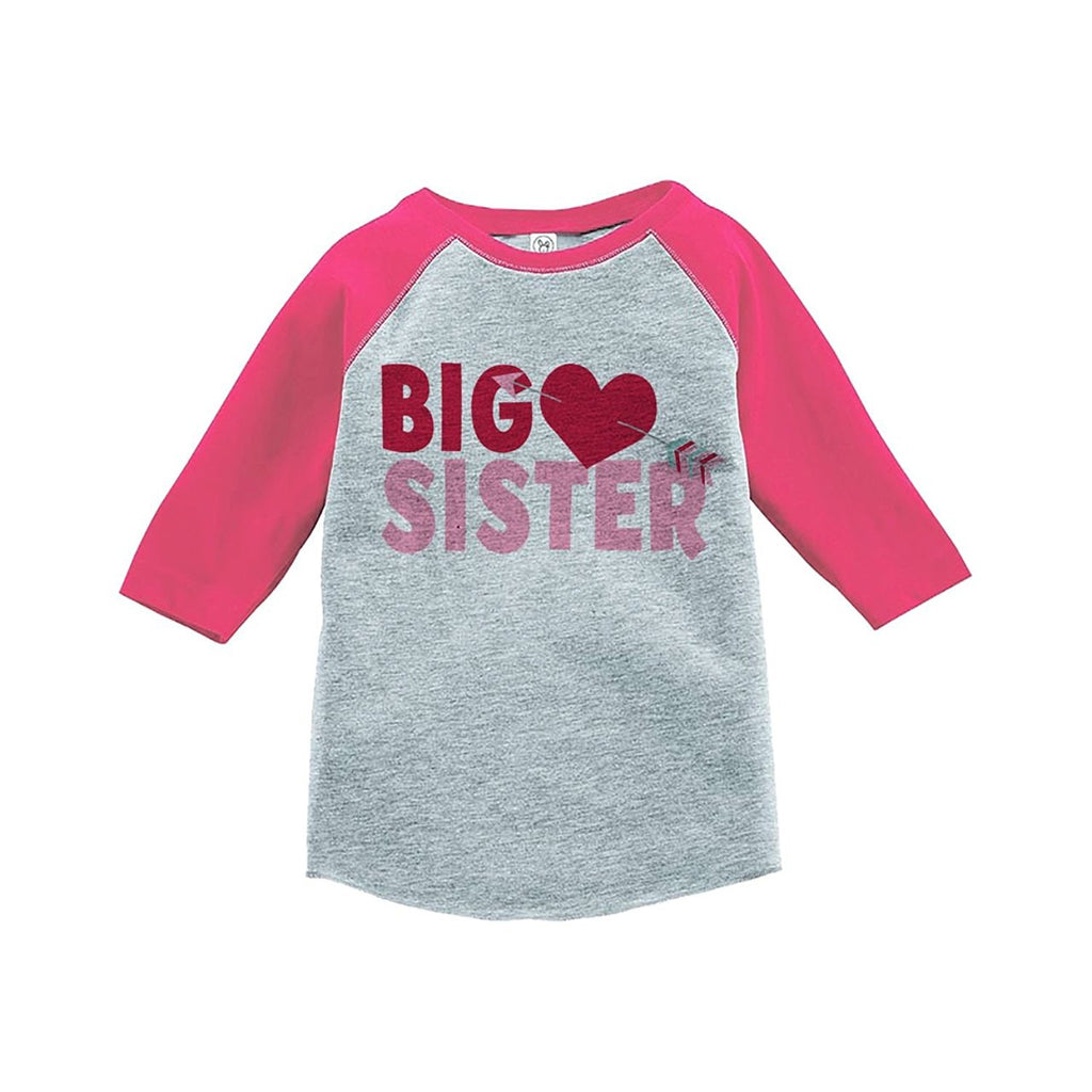 5ded6faa1c701 7 ate 9 Apparel Girl s Big Sister Happy Valentine s Day Pink Raglan