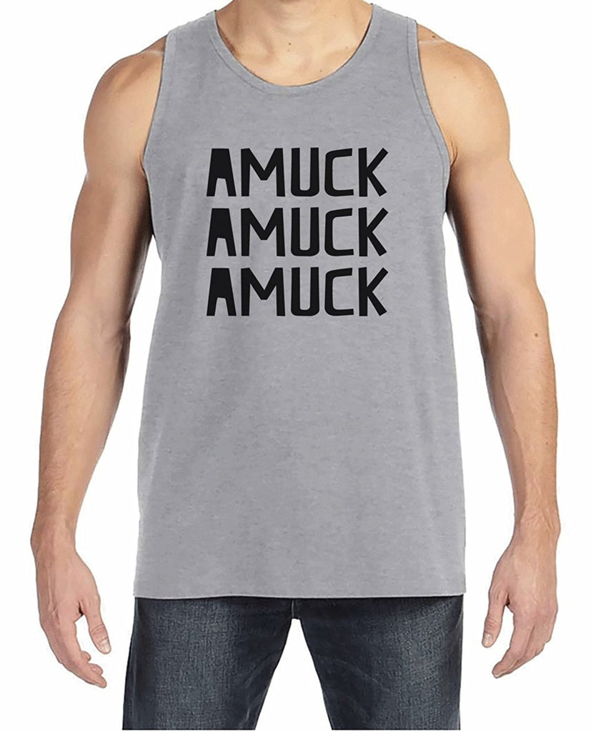 7 ate 9 Apparel Men's Amuck Halloween Tank Top