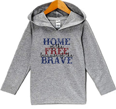7 ate 9 Apparel Kid's Home of the Free 4th of July Hoodie Pullover
