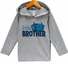 7 ate 9 Apparel Baby's Little Brother Hanukkah Hoodie