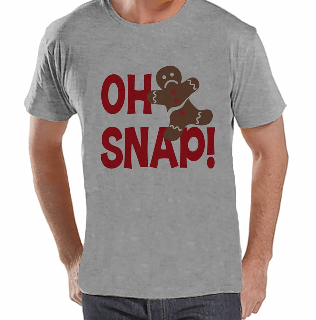 Oh Snap! Gingerbread Man - Men's Grey T-shirt