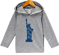 7 ate 9 Apparel Kid's Statue of Liberty 4th of July Hoodie Pullover