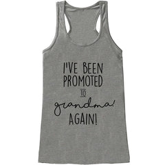 7 ate 9 Apparel Women's Promoted to Grandma Pregnancy Announcement Tank Top