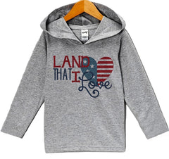 7 ate 9 Apparel Baby Boy's Land That I Love 4th of July Hoodie Pullover