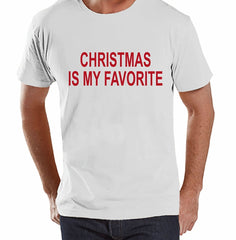7 at 9 Apparel Men's Christmas Is My Favorite T-shirt