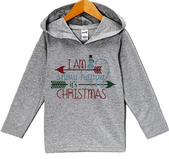 7 ate 9 Apparel Baby's Snow Happy Christmas Hoodie