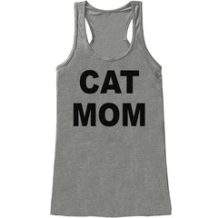7 ate 9 Apparel Womens Cat Mom Mother's Day Tank Top