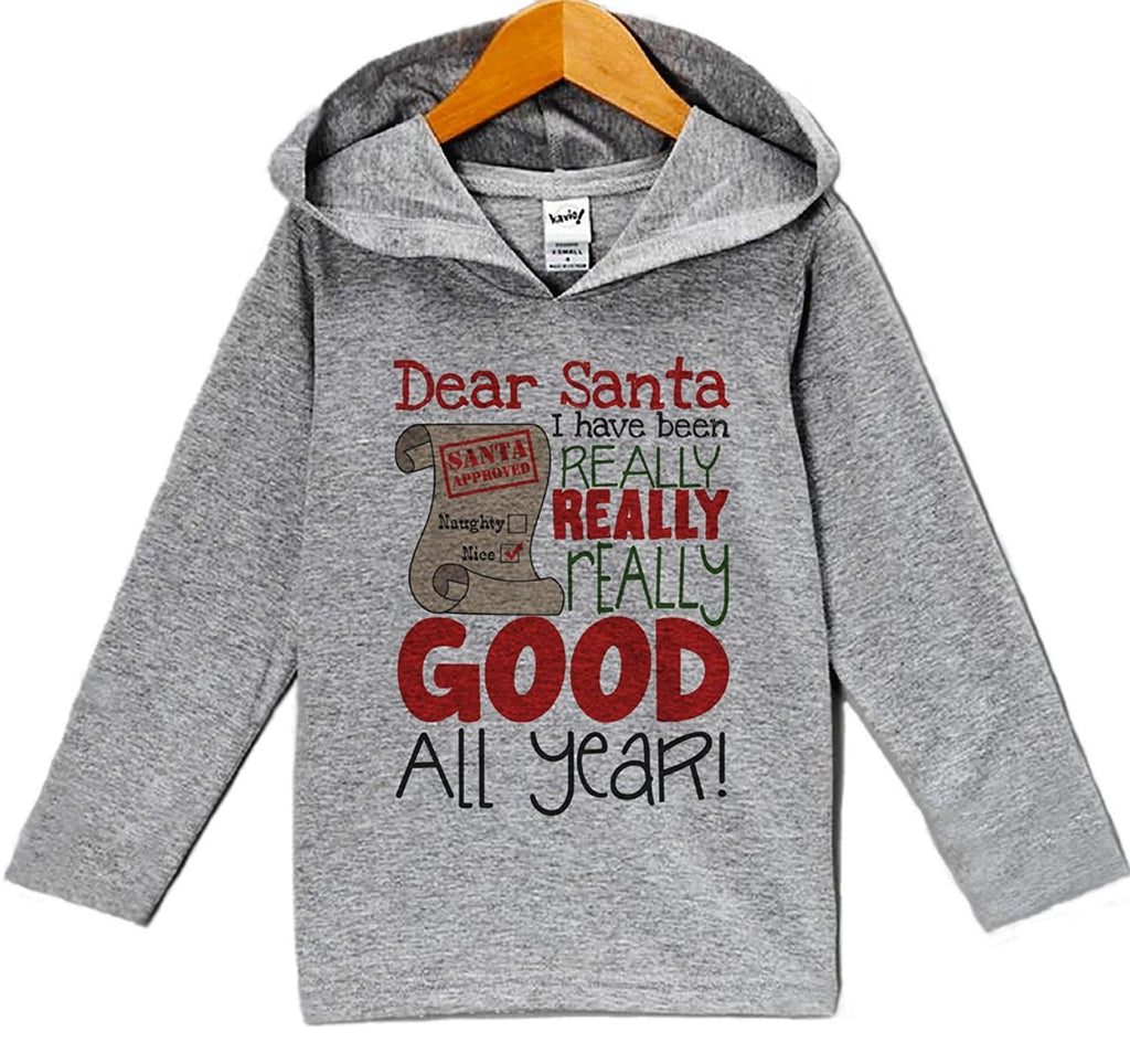7 ate 9 Apparel Baby's I've Been Good All Year Christmas Hoodie