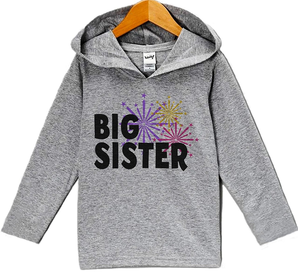 7 ate 9 Apparel Baby Girl's Big Sister New Years Eve Hoodie Pullover