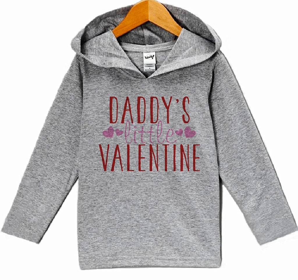 7 ate 9 Apparel Baby Girls' Daddy's Little Valentine Hoodie Pullover