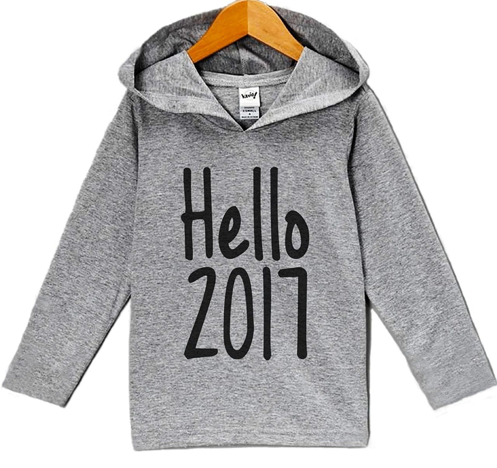 7 ate 9 Apparel Baby Boy's Hello 2017 New Years Eve Hoodie Pullover